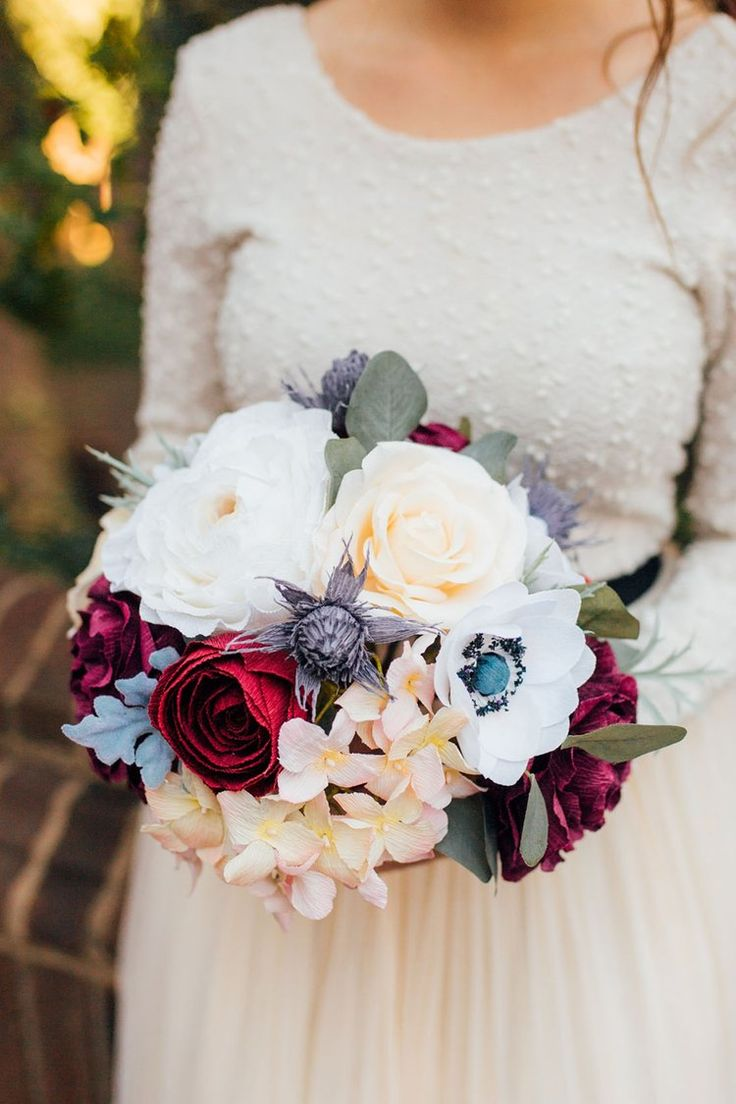 125 best paper flower wedding collections images on pinterest paper flower wedding bouquet izmirmasajfo Choice Image