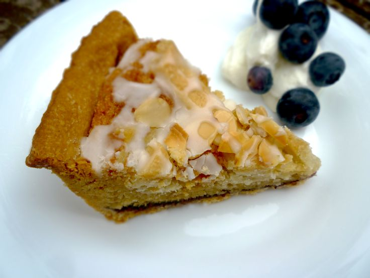 Blueberry Bakewell Tart served with Greek Yoghurt by Hangry Red Roo