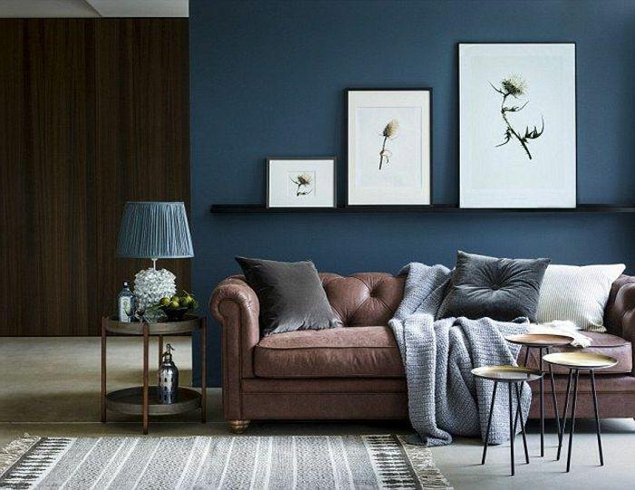 79 besten wohnung deko bilder auf pinterest diy - Blaue wand wohnzimmer ...