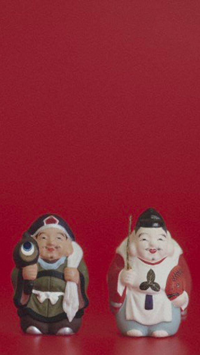 大黒様と恵比寿様は、七福神の中では金運最強コンビ♪ 実際にジャンボ系で高額当選された方が使っていたという待ち受け