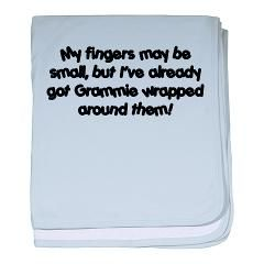 """My fingers may be small, but I've already got Grammie wrapped around them!""  This quote would be so cute with a baby's handprint and a picture of the grandmother holding the baby."