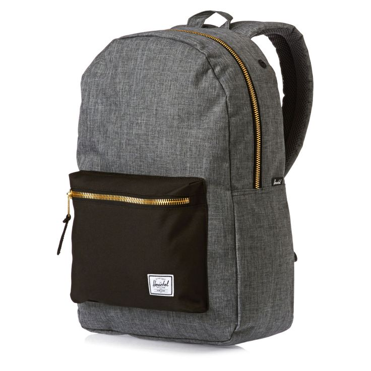 Herschel Backpacks - Herschel Settlement Backpack - Charcoal Crosshatch/black