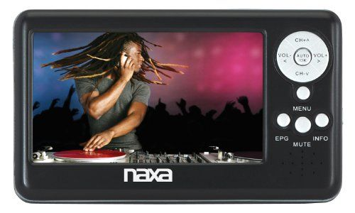 Naxa NT-401 4.3-Inch Digital LCD Television with FM Radio and SD/MMC Card Slot Its a portable handheld TV. FM Radio available.  #NaxaElectronics #CE