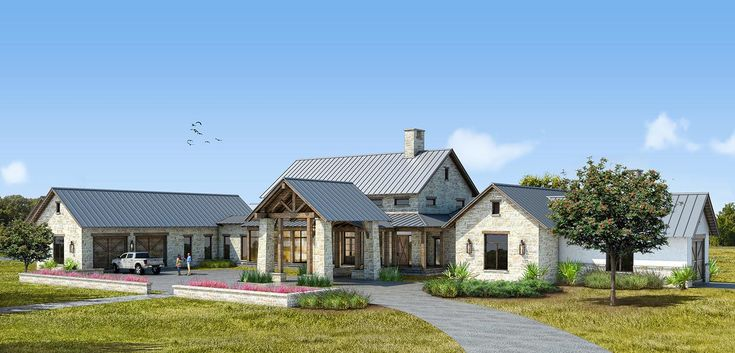 Texas Ranch In progress Situated in West Texas Hill Country on a cattle ranch, this home brings together a rustic aesthetic with high-end finishes. The home features limestone quarried in West Texas and a traditional lodge-like feel with natural lighting throughout.
