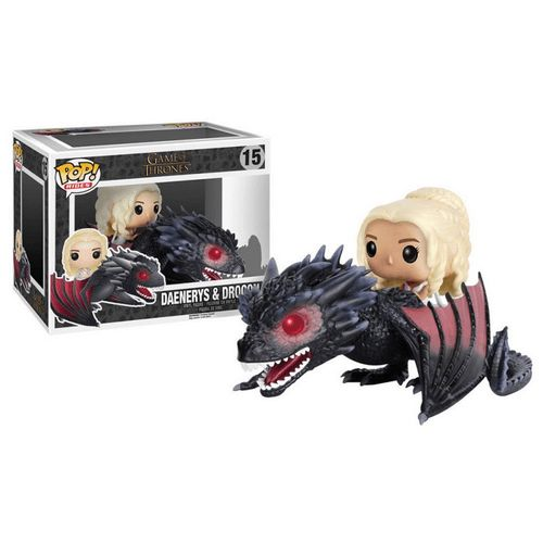 Figurine POP Game of Thrones Daenerys sur Drogon