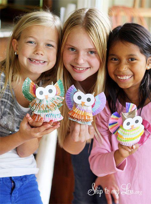 #knutselen met #kinderen #DIY: uiltjes met werkbeschrijving