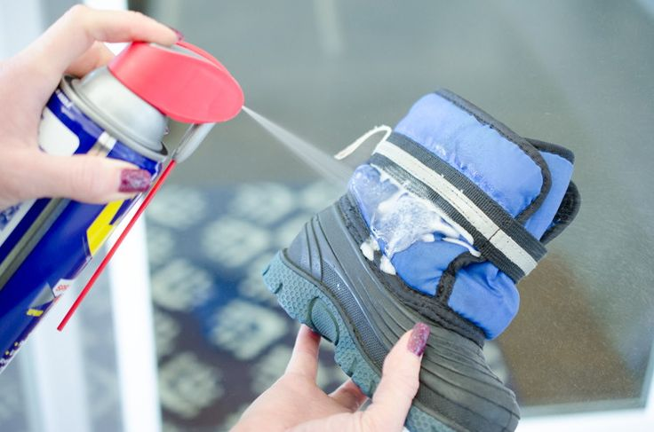 Waterproof shoes. Not only does WD-40 create a waterproof barrier on shoes, it will also help remove any salt stains on boots during the winter months. Just spray onto the stains and wipe with a clean rag.