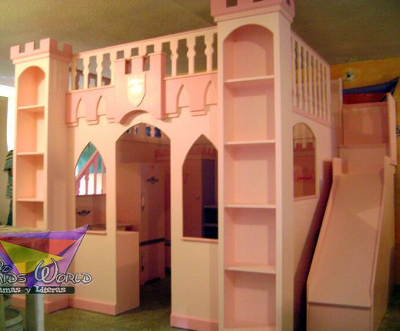 Camas infantiles de princesas en quer taro imagen 8 muebles princesa house pinterest ps - Camas con tobogan para ninos ...