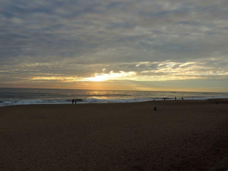 Atardecer desde la playa de Reñaca.