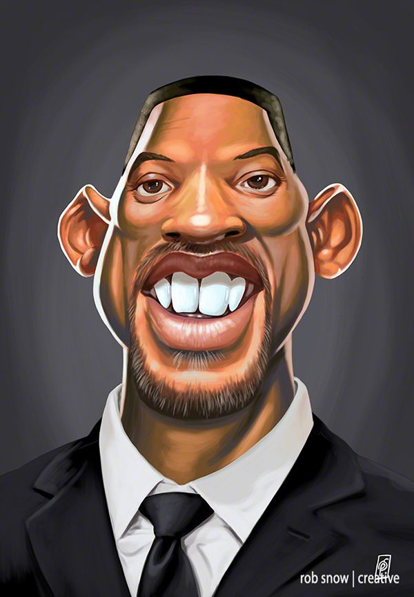 Celebrity caricatures - Bill Houston
