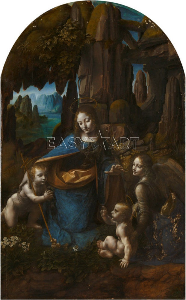 The Virgin of the Rocks print