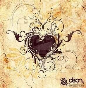 Swirl Heart Tattoo Designs