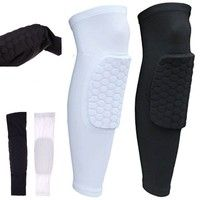 Wish | Honeycomb Knee Pads Bumper Crashproof Football Basketball Leg Sleeve Sports Kneepad Protector Knee Brace