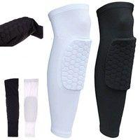 Wish | Honeycomb Knee Pads Bumper Crashproof Football Basketball Leg Sleeve Sports Kneepad Protector Knee Brace
