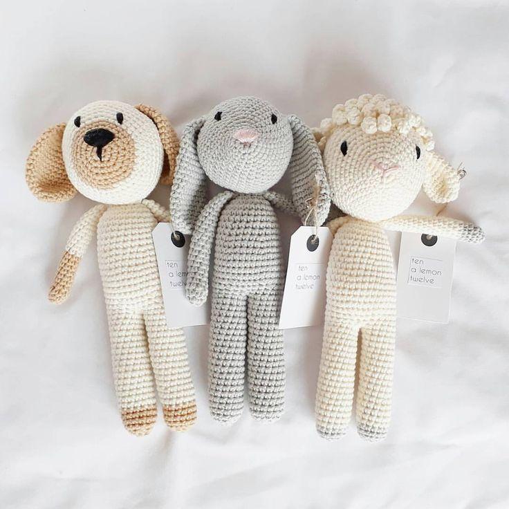 "62 Likes, 6 Comments - Ten, A Lemon, Twelve (@ten.a.lemon.twelve) on Instagram: ""Best buddies Check em out in my shop now link in bio ▪ ▪ ▪ #tenalemontwelve #crochet…"""