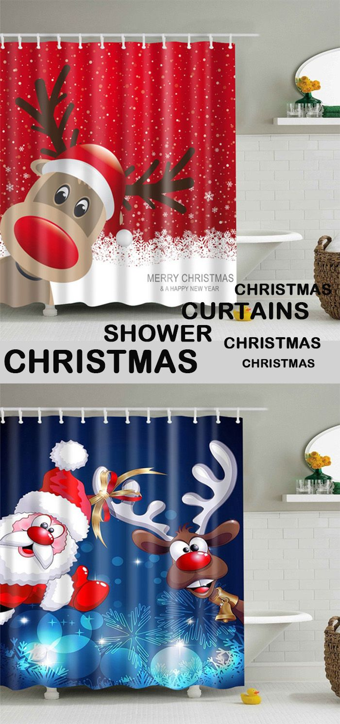 Christmas shower curtains on ebay - Christmas Shower Curtains For You
