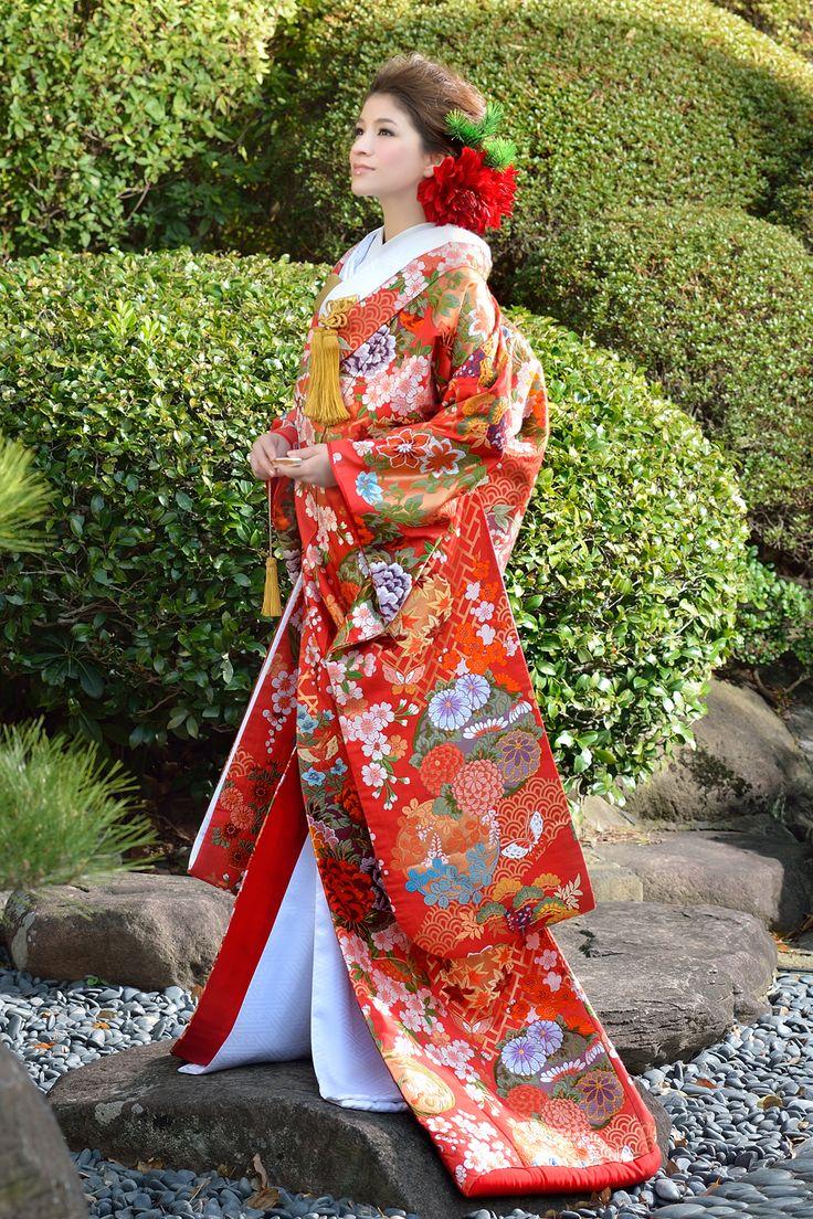 枝垂桜に丸紋 和装 ノバレーゼ