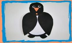 PRESCHOOL WINTER CRAFT: Easy Penguin Winter Animals Craft and Winter Song!