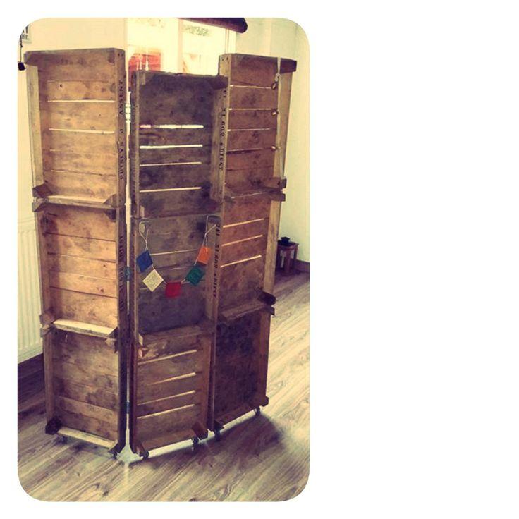 maak van onze oude 1-lats kistjes een kamerscherm, Do It Yourself door Healing Praktijk Nandu  bij www.als-nieuw.com