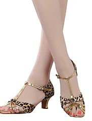 Sapatos de Dança(Leopardo) -Feminino-Não Personalizável-Dança do Ventre / Latina / Tênis de Dança / Moderna / Salsa / Samba / Sapatos de