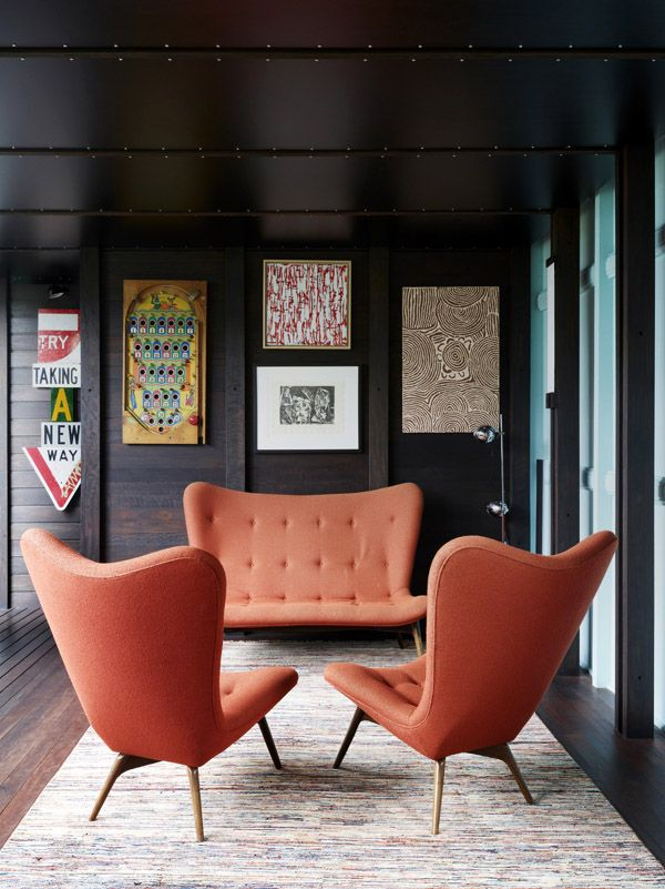 Mid Century Modern orange