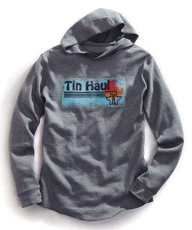 Gray Logo Hoodie by Tin Haul #zulily #zulilyfinds