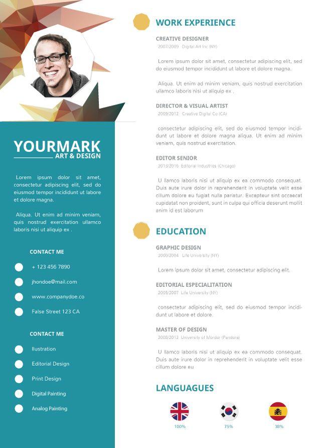 3D Cv Template #cvtemplate #template | Cv Template | Pinterest | Cv ...
