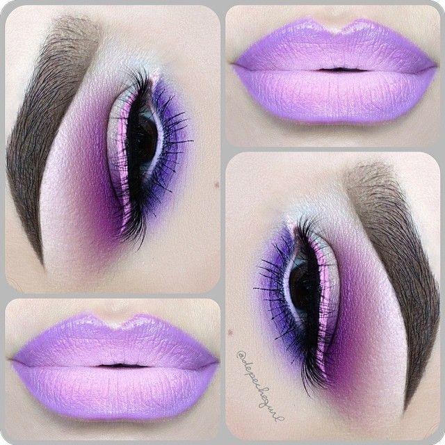 "☠ X†iNA  @depechegurl Spring Inspired...Instagram photo | Websta (Webstagram) Lips - @five11_fashion Lipstick, @nyxcosmetics ""Sydney"" Matte Lip Cream and ""Milk"" Jumbo Pencil. @five11_fashion Mink Lashes. Eyes - @sugarpill Eyeshadows in ""Poison Plum"" & ""2am."" MAC Eyeshadows in ""Gesso,"" ""Seedy Pearl,"" ""Yogurt,"" ""Quarry,"" and ""Parfait Amour."" Urban Decay ""Ecstasy"" Eyeshadow and @inglot_usa Gel Liner in #71. All @kizmet brushes used."