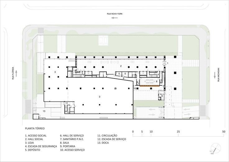 Ground Floor Plan - Courtesy of gasperini arquitetos