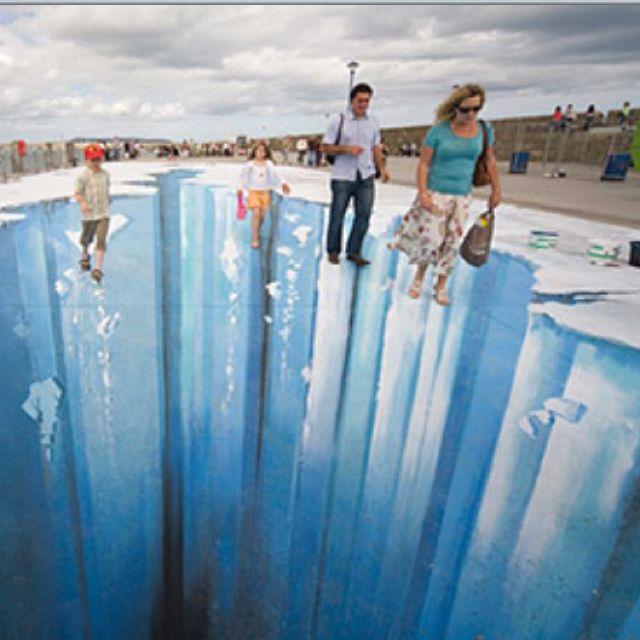 Street art, 3D, optical illusion