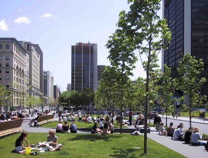 Projects - Quartier international de Montréal - Interventions - Square Victoria - Quartier International