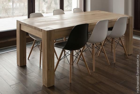 Купить Обеденный стол из дуба - стол, стол обеденный, конференц стол, стол из дерева