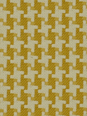 Yellow Houndstooth Fabric by the yard.. $39.00, via Etsy.