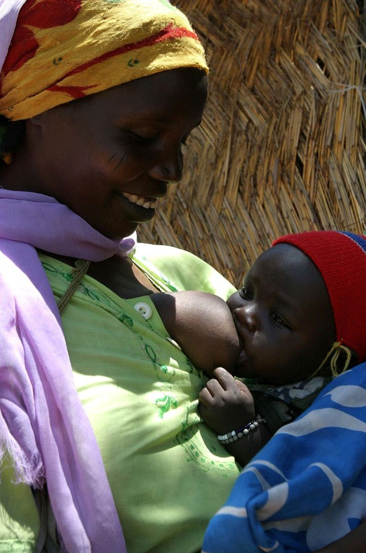 Celebrity breast feed african baby