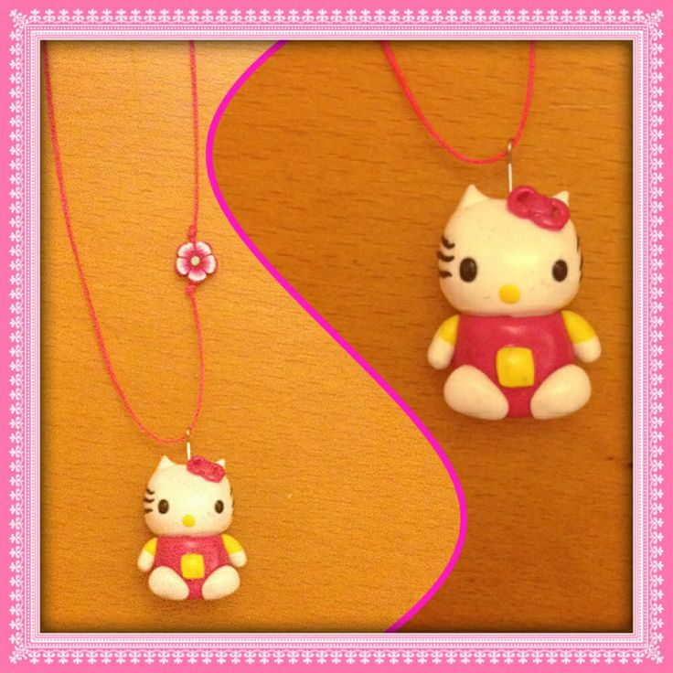 Hello Kitty necklace #fimo