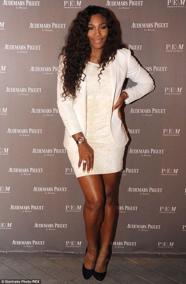 Stunning: Serena Williams looked radiant atAudemars Piguet Presentation of Theo Jansen's Larger Than Life Strandbeests in Miami on Saturday