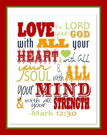 Image result for pic love God with all your heart Bible