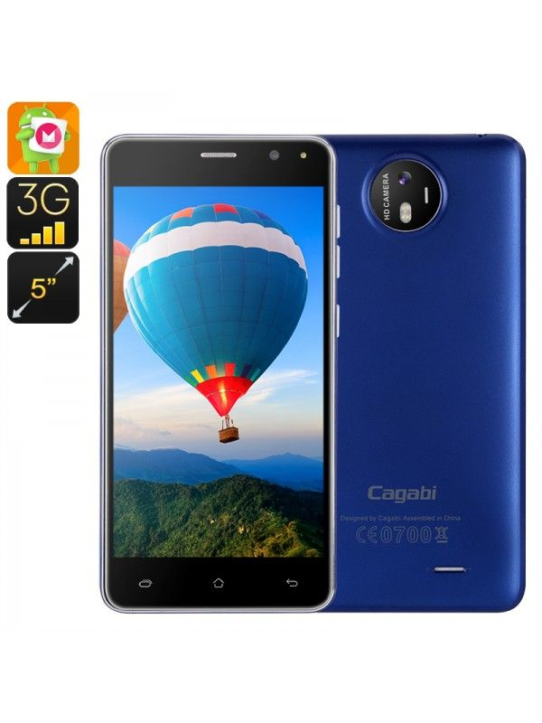 Key Features... Cagabi One Smartphone with unique styling and full metal body looks and feels greatQuad Core Mediatek CPU and Android 6.0 operating system ensure a smooth seamless performanceHD screen brings bright, clear images in 720P and has a pixel density of 294ppiDual IMEI smartphone lets you manage two numbers at once from the same handset