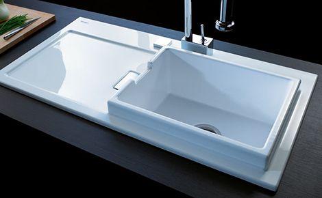 Duravit Starck K Kitchen Sink - new sink by Philippe Starck