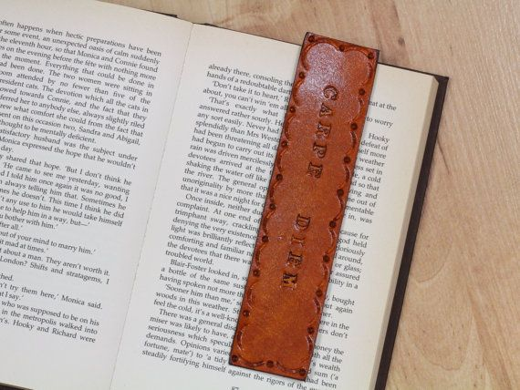 Carpe Diem Bookmark  Leather Seize The Day by TinasLeatherCrafts. Repin To Remember.