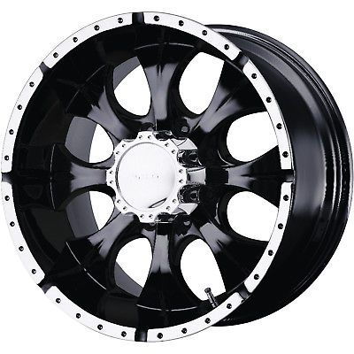 16x8 Black Helo HE791 8x6.5 0 Wheels Toyo Open Country AT II 315/75/16 Tires