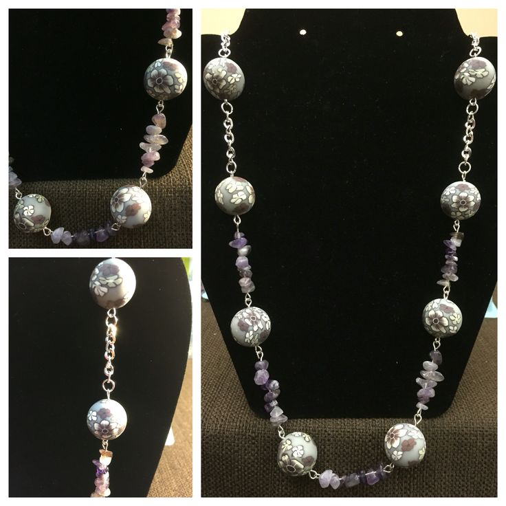 Chip beads necklace