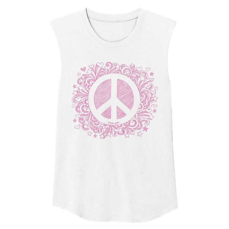 Peaceful Warrior Muscle Tank Pink