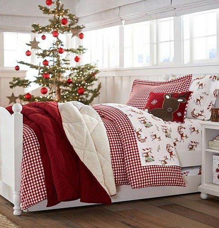 14 Amazing Christmas Bedroom Decor Ideas For Wonderful Bedroom 9 Christmas Decorations Bedroom Christmas Bedroom Christmas Bedding