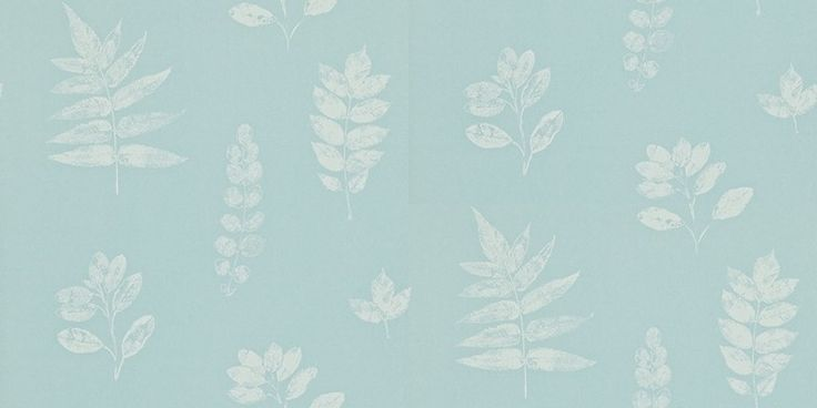 Laurel (212849) - Sanderson Wallpapers - A delicate and pretty design created using a pressed leaf effect shown in eggshell and cream.  This is a paste the wall product. Please request a sample for true colour match.