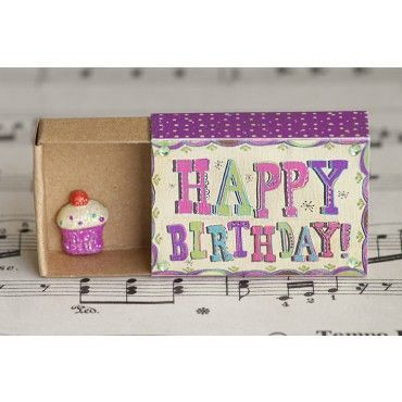 Happy Birthday Matchbox Card                                                                                                                                                                                 More