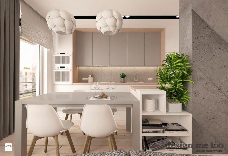 NOWOCZESNY APARTAMENT NA WILANOWIE WERSJA I - Kuchnia, styl nowoczesny - zdjęcie od design me too