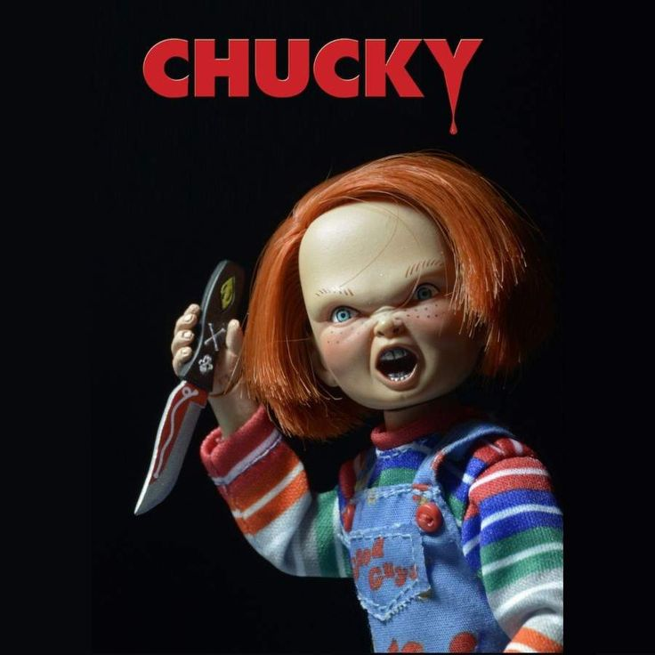 "NECA Chucky 1:8 Scale 5.5"" Retro Style Clothed Action Figure.  Accessories Include: Voodoo Knife Regular Knife Baseball Bat Good Guys Hammer"