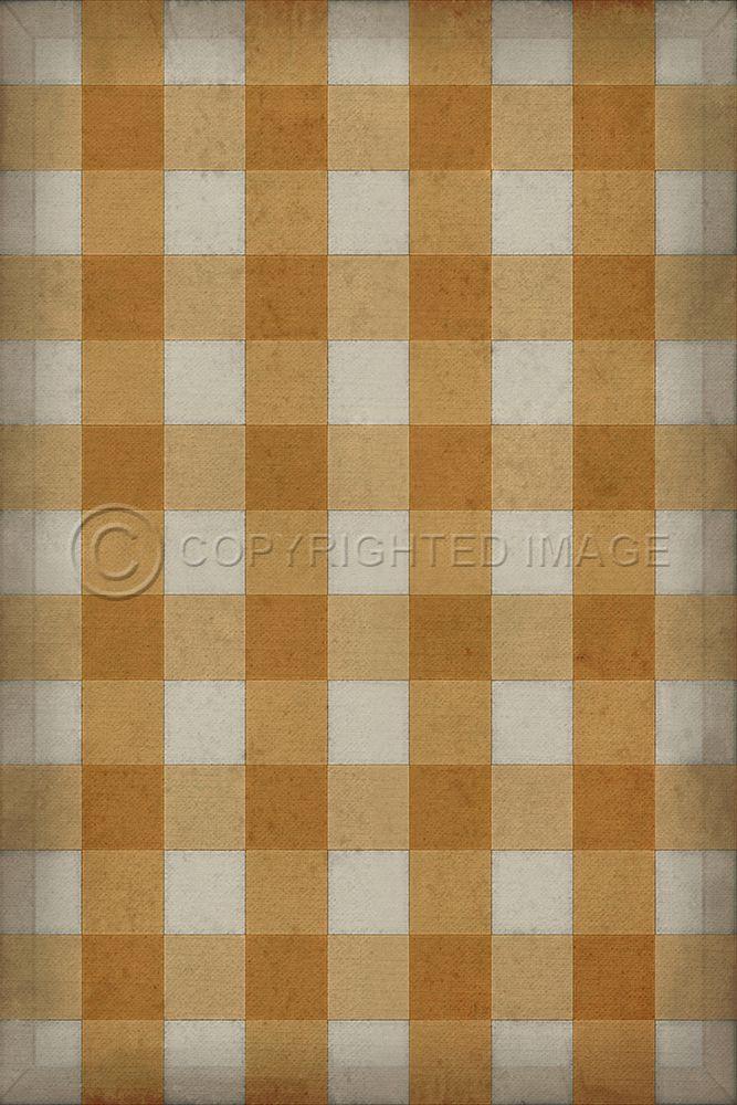 Gingham Canvas Yellow Vinyl Floor Cloth In 2020 Vinyl Flooring Floor Cloth Flooring