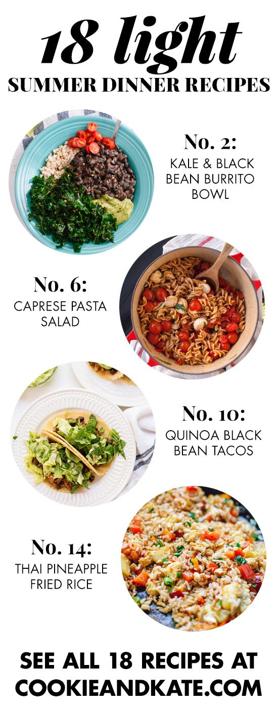 Find 18 fresh summer recipes that boycott the oven! Tacos, salads, pastas and more. cookieandkate.com